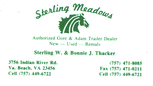 Sterling Meadows Trailer Rentals